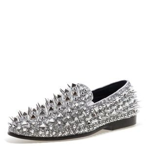 ab7e4f8926cb Jump Shoes - Jump NewYork Lord - Silver Spiked Loafers